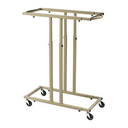 Alvin and Company - Mobile Racks for Blueprints - Holds up to 12 Blueprints. Includes floor glides for non-mobile use. 3 in. Diameter heavy duty swivel wheels. Hanging clamps (not included) are suspended between support bars at each end. Unique steel handles for easy mobility. Space-saving vertical filing systems that allow convenient access to hundreds of active documents, prints and project files. Sturdy steel frames adjust to the length and width of the documents being stored. Adjustable height for prints 36 in. to 48 in. long. Industrial strength construction. Fits clamp sizes 24 in., 30 in. and 36 in.. Limited lifetime warranty. Capacity: 240 lbs.