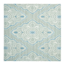 Safavieh - Contemporary Wyndham Square 7' Square Blue - Ivory Area Rug - The Wyndham area rug Collection offers an affordable assortment of Contemporary stylings. Wyndham features a blend of natural Blue - Ivory color. Hand Tufted of Wool the Wyndham Collection is an intriguing compliment to any decor.
