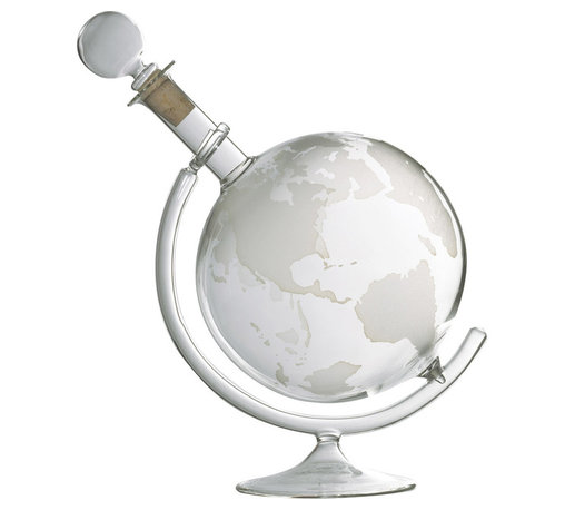Wine Enthusiast - Wine Enthusiast Etched Globe Spirits Decanter - Drinking wine and other spirits is enjoyed all around the world, so why not keep your favorite spirit in a decanter that looks like a globe? Made of heat-resistant, lead-free glass, it's best used when spun as it aerates the spirits inside allowing the bouquet to develop. Give this unique decanter as a gift; it's a global favorite!