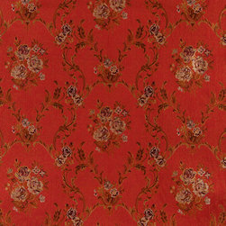 Red Brown Gold And Ivory Floral Brocade Upholstery Fabric By The Yard - This beautiful traditional brocade fabric is luxury at its finest. This fabric is very durable while also providing the look of elegance to any space.