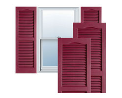 "Alpha Systems LLC - 14"" x 75"" Premium Vinyl Open Louver Shutters,w/Screws, Berry Red - Our Builders Choice Vinyl Shutters are the perfect choice for inexpensively updating your home. With a solid wood look, wide color selection, and incomparable performance, exterior vinyl shutters are an ideal way to add beauty and charm to any home exterior. Everything is included with your vinyl shutter shipment. Color matching shutter screws and a beautiful new set of vinyl shutters."