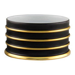 Arienne Bottle Stand, Black & 24k Gold