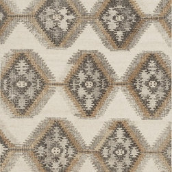 """Loloi Rugs - Loloi Rugs Akina Collection - Ivory / Camel, 3'-6"""" x 5'-6"""" - Hand woven in India, the Akina Collection sets a rugged and worldly foundation. Each piece is deliberately crafted with textural highs and lows, accentuating the all-over geometric pattern. And because Akina is woven of 100% wool, each piece is naturally durable and fitting for your most high traffic room."""