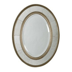 Uttermost Lara Oval Mirror - 25W x 33H in. - Inspired by museum-quality antiques the Lara Oval Mirror features the finest in traditional design. This highly polished mirror is rimmed in thin beading immersed in a lightly antiqued silver leaf finish. Narrow panels of cut glass are aged to enhance the historic appeal of this decorative addition to your home. Generously beveled glass creates the centerpiece of this beauty.Here's what you need to know to hang your new Uttermost Mirror. Hanging a mirror even if it is a large heavy piece is not a problem if you have the right hanging hardware and a hammer. The best hanging hardware for most walls is the J-hook. It is designed to keep the nail that goes into the wall at a sharp angle so that even in drywall it will stay in place. It is important that the J-hook be properly weighted for the item you want to hang. On all Uttermost products the proper J-hook and nails are included to make sure you have exactly the hardware you need for hanging each piece. On the largest Uttermost mirrors we provide a self-leveling adjustable J-hook. With this hardware even if the item is slightly uneven the hangers can be adjusted without moving the nails from the wall.About UttermostThe mission of the Uttermost Company is simple: to make great home accessories at reasonable prices. This has been their objective since founding their family-owned business over 30 years ago. Uttermost manufactures mirrors art metal wall art lamps accessories clocks and lighting fixtures in its Rocky Mount Virginia factories. They provide quality furnishings throughout the world from their state-of-the-art distribution center located on the West Coast of the United States.