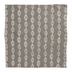 Montauk Chains Napkin, Set of 2, Stone/White