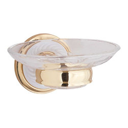 "Renovators Supply - Soap Dishes Bright Ceramic/Brass Soap Dish - This brass finished soap dish is decorated with a roped design in white ceramic.It measures 3"" high with a 3 1/2"" projection. The glass soap dish is 5 1/2"" wide by 4 1/2"" deep."