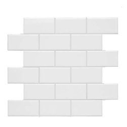"Adex - Neri White Flat Mesh Glossy 2"" x 4"" Mosaic - Contemplate the joys of virtually unlimited design possibilities. The Neri Collection will inspire you with four classic neutrals: White, Bone, Black and Celery. Each can be used alone or in endless combinations. Against this exquisitely versatile backdrop, you can easily add any color as a memorable complement or contrast."