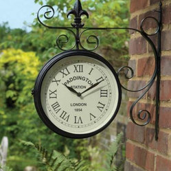 Large Outdoor Garden Paddington Station Wall Clock