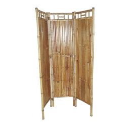 """Bamboo54 - Bamboo Three Panel Screen - The price is for 2 screens as they are sold by the pair. Measuring 63"""" H x 48"""" W, this bamboo screen is ideal to use as an eco friendly room divider. Some designers use it on the wall as a centerpiece. Use your imagination."""