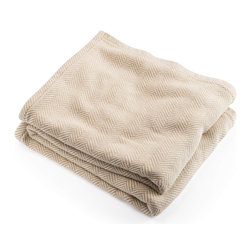 Brahms Mount - Brahms Mount Cotton Herringbone Blanket - Cotton blanket made in the USA by Brahms Mount of Maine. Buy from the manufacturer