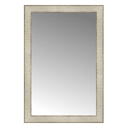 """Posters 2 Prints, LLC - 19"""" x 28"""" Libretto Antique Silver Custom Framed Mirror - 19"""" x 28"""" Custom Framed Mirror made by Posters 2 Prints. Standard glass with unrivaled selection of crafted mirror frames.  Protected with category II safety backing to keep glass fragments together should the mirror be accidentally broken.  Safe arrival guaranteed.  Made in the United States of America"""