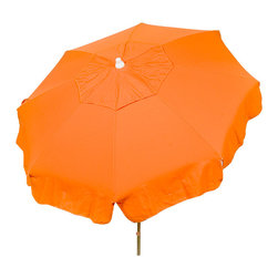 """DestinationGear - Italian 6 ft Umbrella Acrylic Solid Purple - Patio Pole, Orange, 72"""" X 72"""" X 91, - Taking in the sun on the Amalfi coast is to some a dream come true.  In the case of the DestinationGear Italian Bistro style umbrellas, you'll feel like you are in Italy when you open up this 6 foot diameter shade provider.  Stylish, high-quality and designed for the patio, beach or camping outing."""