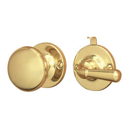 Renovators Supply - Screen Door Latches Bright Brass Screen Door Latch Set - Screen Door Hardware. Push/pull locking mechanism which alternates on either side. For left or right hand installation on doors 7/8 in. to 1 1/8 in. thick. Knob diameter is 1 3/4 in. Lever length is 1 3/4 in. Rose diameter is 1 7/8 in.