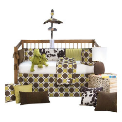 Glenna Jean - Urban Cowboy Baby Crib Bedding Set 4-Piece Set - The 3-Piece Urban Cowboy Crib Bedding Set by Sweet Potato comes with a crib skirt, crib quilt, and print sheet.