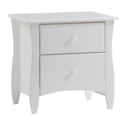 Night And Day Furniture - Night And Day Furniture Clove 2 Drawer Night Stand In White Finish - Our Clove Nightstand is a cute and very useful accessory for your bedside. With its two spacious drawers and its attractive detailing it is a good match for all our Spices Bed models. The Clove Nightstand is an essential piece of your bedroom group. Do not forget to take two.
