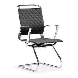 Zuo Modern - Zuo Jackson Conference Chair in Black - Conference Chair in Black belongs to Jackson Collection by Zuo Modern The Jackson conference chair is a swank addition to any workspace. The chair has a supple leatherette seat complimented by detail stitching and a 100% chrome frame. Office Chair (1)