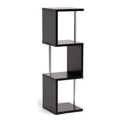 Wholesale Interiors - 3-Tier Lindy Display Shelf - A vertical display shelf saves space while providing a safe haven for your decor, books, memorabilia, and more.