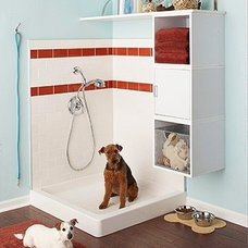 Doggy shower in the garage. Also for muddy children... thats sooo awesome | fabu