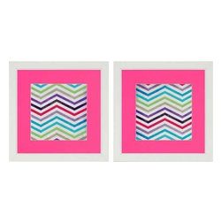 Paragon Art - Paragon Zig Zag ,Set of 2- Artwork - Zig Zag ,Set of 2              ,  Paragon Artist is Grey , Paragon has some of the finest designers in the home accessory industry. From industry veterans with an intimate knowledge of design, to new talent with an eye for the cutting edge, Paragon is poised to elevate wall decor to a new level of style.