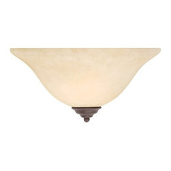 Livex Lighting - Livex Lighting 6120 1 Light 100W Up Lighting Wall Sconce with Medium Bulb Base a - 1 Light 100W Up Lighting Wall Sconce with Medium Bulb Base and Vintage Scavo Glass from Coronado SeriesProduct Features: