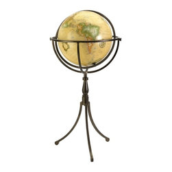 IMAX CORPORATION - Vaughn Globe on Iron Stand - Adding a classic look to any home or office, the Vaughn globe is resting on a three legged iron stand. Find home furnishings, decor, and accessories from Posh Urban Furnishings. Beautiful, stylish furniture and decor that will brighten your home instantly. Shop modern, traditional, vintage, and world designs.