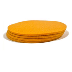 The Felt Store - Felt Coasters, Yellow, Set of 4 - Our Designer Felt Coasters are made of 100% Merino Wool. Available in a variety of colors, there's no doubt that these eco-friendly coasters will add a touch of style to any room, while protecting your furniture from moisture. The coasters measure at 4 inches across. Made in Canada.