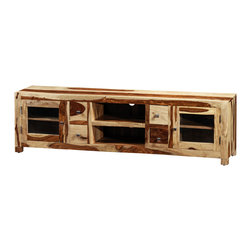 Artemano - Ella TV Unit Made of Rosewood, Natural - Grand and opulent, the Ella TV Unit is the ultimate living room media console. Six shelves and four pullout drawers create tons of storage space for all of your electronic gadgets and accessories. Available in three finishes, each smooth rosewood TV stand has a distinct grain pattern and blend of warm, natural colors.