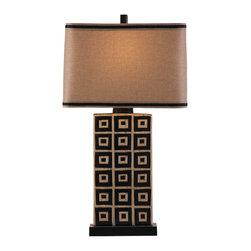 Bassett Mirror - Bassett Mirror Lakota Table Lamp L2563TEC - Bassett Mirror Lakota Table Lamp L2563TEC