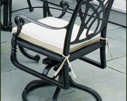 "Grand Terrace Swivel Rocker - Grand Terrace Swivel Rocker 36 1/2"" H, 26"" W, 26"" D. Gensun cast aluminum swivel rockers feature aluminum swivel mechanisms that won't rust. Powerful and secure, these rockers are as comfortable as they are convenient for socializing. Finish: Vintage Antique."