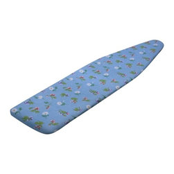 Superior Ironing Board Cover- Flowers - Dimensions:  54 in l x 15 in w x .2 in h (137.2 cm l x 38.1 cm w x .5 cm h)