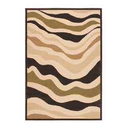 "Frontgate - Heat Wave 8'7"" x 13' Outdoor Area Rug - Woven of 100% durable polypropylene. Suitable for indoor or outdoor use. Resists fading, mold and mildew. Hose clean and dry in the sun. Add a rug pad for increased softness underfoot, better water drainage, and to help hold in place. The Heat Wave Outdoor Rug fuses modern art influences with innovative weaving techniques to create an invigorating new look that is full of personality and presence. Durable enough to be displayed in the backyard, this area rug is still stylish enough to be used indoors also..  . . . ."