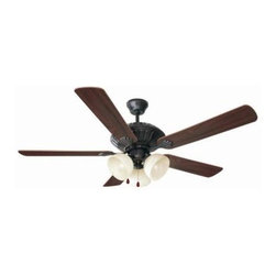 Design House - Indoor Ceiling Fans: Design House Trevie 52 in. Oil Rubbed Bronze Ceiling Fan EP - Shop for Lighting & Fans at The Home Depot. The Trevie 52 in. fan has a traditional design. Tri-Mount adaptable this fan can be mounted with a downrod, in a close-up configuration or on a vaulted ceiling. A 3/4 in. diameter by 4 in. downrod is included. It has a 3-speed pull chain control and a reversible motor for comfort year round. The oil rubbed bronze finish with antique alabaster glass has five reversible blades, one side is a dark mahogany finish and the other side is a bleached oak finish. Stylish and made for year round use.