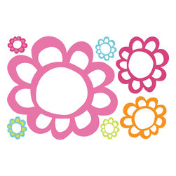RoomMates - Floral Dry Erase Peel and Stick Wall Decals - Keep track of those important tasks or upcoming events with these trendy floral dry erase decals. These loopy flowers are sure to be a hit with kids and adults alike! Simply apply to any smooth surface and start writing. Like all of our decals, these removable and repositionable stickers can be removed and repositioned at any time without damage or any sticky residue.