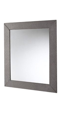 Gedy - Vertical or Horizontal Mirror with Old Silver Faux Leather Frame - Imported from and manufactured in Italy by Gedy, this trendy vanity mirror works well in contemporary & modern bathrooms. Hang it on your wall to save space. Available in old silver and made in high-end faux leather and mirror, this vanity mirror is part
