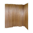 Master Garden Products - Peeled Willow Fence Screen, Light Mahogany Color, 6'h X 8'l - Willow sticks are harvested every one or two years for fencing material making the classic peeled willow fences one of the most environmentally friendly and ecologically sustainable materials as it is zero carbon releasing compared to metal and plastic fencing. Our classic peeled willow fences are constructed with only mature willow sticks that are thick enough to have their skin peeled and to go through the process known as high pressure steam carbonization, resulting in a polished mahogany tone that resembles an aged smooth log house type texture. They are then woven together with black nylon coated wire which allows these carbonized willow sticks to last longer in outdoor conditions. These classic willow fences come rolled with a matching black nylon coated wire. It is easy to install using the wire tie, especially around a corner or any kind of non-linear fencing.