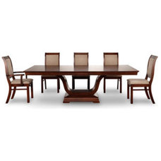 Oak Dining Room Table - Solid Wood Oak Dining Room Table - Royale