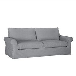 """PB Comfort Slipcovered Roll Sleeper Sofa, Polyester Wrap Cushions, Twill Metal G - Built by our exclusive master upholsterers in the heart of North Carolina, our PB Comfort Slipcovered Sleeper Sofa iis designed for unparalleled comfort with deep seats and three layers of padding. 88.5"""" w x 40"""" d x 37"""" h {{link path='pages/popups/PB-FG-Comfort-Roll-Arm-4.html' class='popup' width='720' height='800'}}View the dimension diagram for more information{{/link}}. {{link path='pages/popups/PB-FG-Comfort-Roll-Arm-6.html' class='popup' width='720' height='800'}}The fit & measuring guide should be read prior to placing your order{{/link}}. Seat cushions have a lofty polyester padding. Choice of knife-edged or box-style back cushions. Proudly made in America, {{link path='/stylehouse/videos/videos/pbq_v36_rel.html?cm_sp=Video_PIP-_-PBQUALITY-_-SUTTER_STREET' class='popup' width='950' height='300'}}view video{{/link}}. For shipping and return information, click on the shipping tab. When making your selection, see the Quick Ship and Special Order fabrics below. {{link path='pages/popups/PB-FG-Comfort-Roll-Arm-7.html' class='popup' width='720' height='800'}} Additional fabrics not shown below can be seen here{{/link}}. Please call 1.888.779.5176 to place your order for these additional fabrics."""