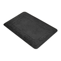 Bungalow Flooring - 22 in. L x 34 in. W Charcoal Comfort Pro Corsica Mat - Made to order. Smooth microfibers surface. High density foam for comfort. 22 in. L x 34 in. W x 0.5 in. H
