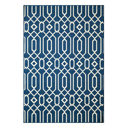 "Momeni Rug - Momeni Rug Baja 2'3"" x 7'6"" Runner BAJ-3 Navy BAJA0BAJ-3NVY2376 - Create the ultimate indoor/outdoor oasis of your dreams with the Baja Collection. Lively patterns, bright and bold color choices and long lasting durability make these rugs ideal for the sun room or patio. Exciting colors and gorgeous graphic patterns make the Baja Collection not to be missed."