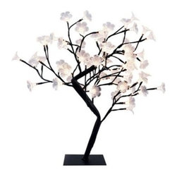 Simple Designs - Simple Designs 23.62 in. Black LED Lighted Decorative Cherry Tree Lamp NL2008-BL - Shop for Lighting & Fans at The Home Depot. This fashionable lighted decorative tree, with its pretty cherry tree look and small LED twinkle lights, will add style and tranquility to any room. Perfect for living rooms, bedrooms, or offices. Increases the decor of any room.