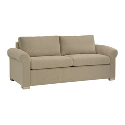 Lazar Industries - Eclipse 2-Seater Sofa in Opera Snow - Eclipse 2-Seater Sofa by Lazar Industries offers a compact rolled arm for traditional zeal on a fashion-forward frame.