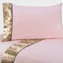 Sweet Jojo Designs - Sweet JoJo Designs 200 Thread Count Abby Rose Bedding Collection Sheet Set - You will be sure to rest easy when you sleep on this comfortable Sweet JoJo bedding. This sheet set is made of 100 percent cotton for added softness, and the rose color with delicate brown accents will add a splash of color to your room decor.