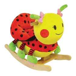 "Fifthroom - Plush Lady Bug Rocker - The saying ""Cute as a Bug"" perfectly describes our Lady Bug Rocker.  Her bright colors and adorable face will brighten any room.  She plays a variety of educational songs. Her easily maintained cover will make Mom happy."