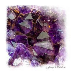 Amethyst Crystals. Elegant KnickKnacks from Jenny Rainbow - Amethyst Crystals. Elegant KnickKnacks.