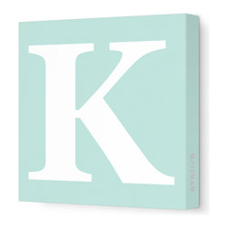"Avalisa - Letter - Upper Case 'K' Stretched Wall Art, 18"" x 18"", Sea Green - Spell it out loud. These uppercase letters on stretched canvas would look wonderful in a nursery touting your little one's name, but don't stop there; they could work most anywhere in the home you'd like to add some playful text to the walls. Mix and match colors for a truly fun feel or stick to one color for a more uniform look."