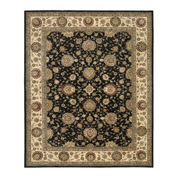 Nourison - Nourison Nourison 2000 Midnight Area Rug - Redefine luxury with Nourisons most popular handmade signature collection featuring Persian and European traditional designs. The dense pile splendid patterns deeply compelling textures and intriguing aesthetics are certain to command immediate attention in any setting.