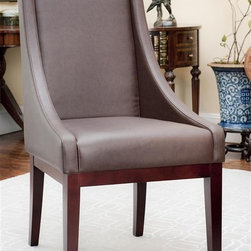 Safavieh Furniture - Sloping Leather Arm Chair - Leather upholstery. Made from solid beech wood. No assembly required. 26 in. W x 23 in. D x 39 in. H (18 lbs.)The safavieh sloping leather arm chair look great in any room