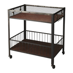 "Butler Specialty - Butler Serving Cart - Butler Serving Cart Iron 30.5""W x 21.5""D x 36""H"