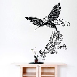 ColorfulHall Co., LTD - Art Vinyl Wall Decor Floral Wall Sticker Love Flying Bird Wall Decals - You will find hundreds of affordable peel - and - stick wall decal designs, suitable for all kinds of tastes and every room in your house, including a children's movie theme, characters, sports, romantic, and home decor designs from country to urban chic. Different from traditional decals, vinyl wall decals is with low adhesive that allows you to reposition as often as you like without damaging the paint. Application is easy: peel offer the pre-cut elements on the design with a transfer film, and then apply it to your wall. Brighten your walls and add flair to your room is just as easy.