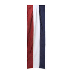 Grandin Road - Patriotic Bunting - Durable poly-cotton construction. Bunting can be gathered in a variety of ways for different looks. Moisture- and fade-resistant. Our Patriotic Bunting is ideal for decorating fences and banisters. Show your spirit to neighbors and friends alike.. . . Made in America by Annin & Co., the oldest and largest flag manufacturer in the United States.